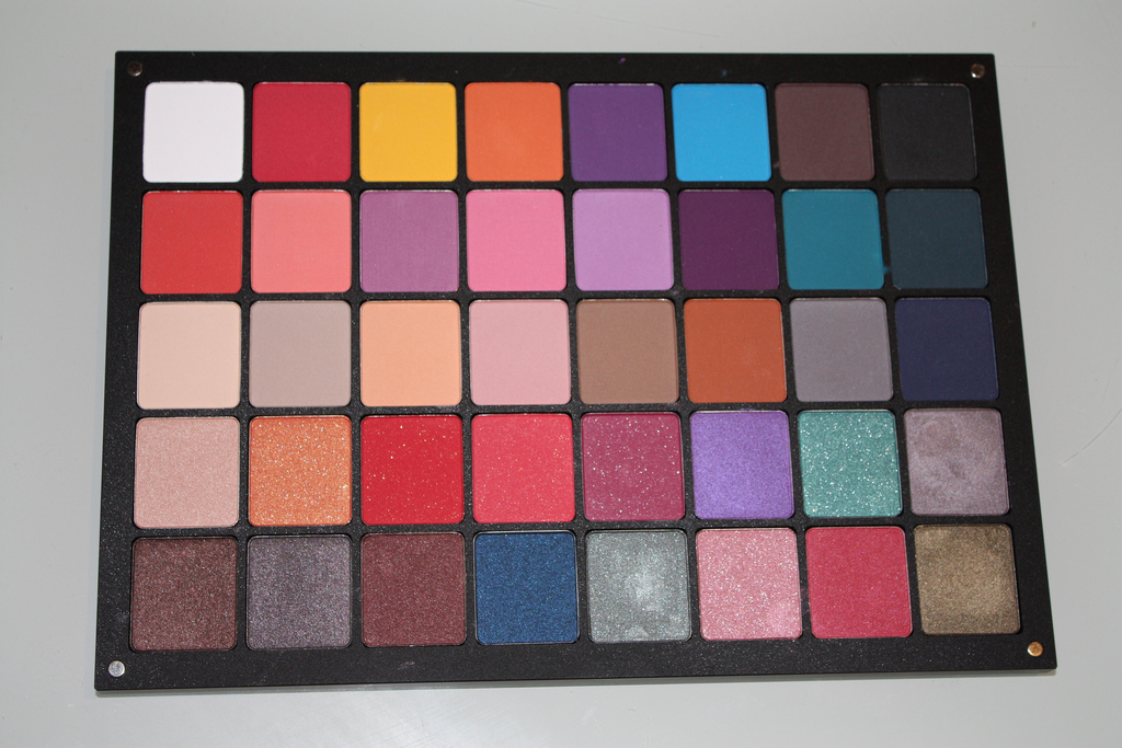 Inglot Swatches from my 40 palette