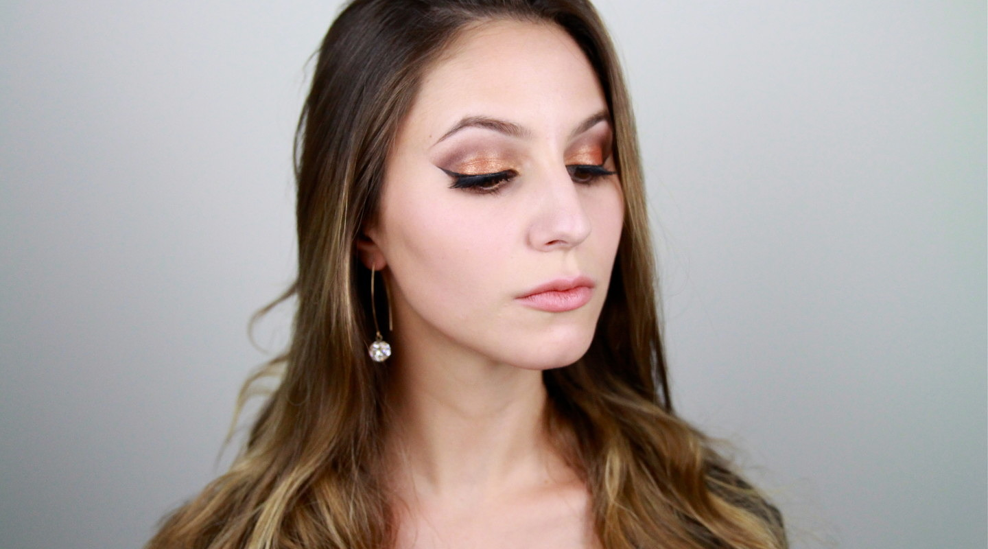 Glitter Party Gold Eyeshadow Tutorial