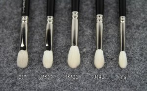 Hakuhodo Crease Brush Reviews – J5523, J5522, J142, J146