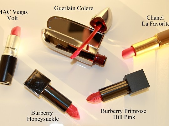 Lipsticks: Corally-Pinks & Pinky-Corals