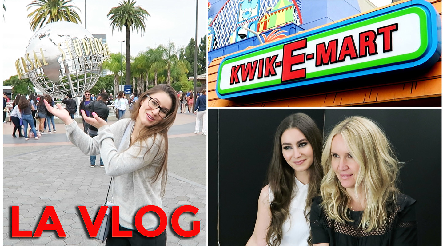 VLOG: Behind the scenes filming & Simpsons land!