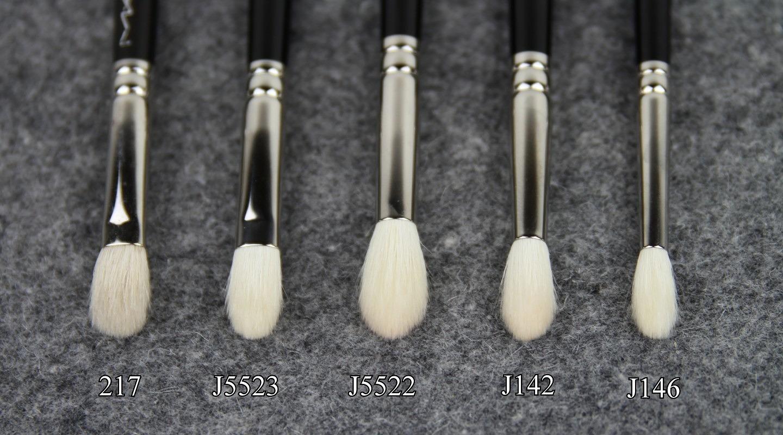Hakuhodo Crease Brush Reviews – J5523, J5522, J142, J146