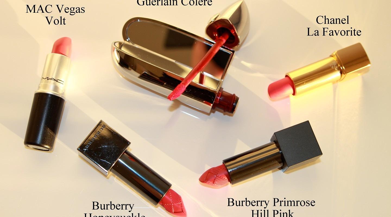 Lipsticks: Corally-Pinks & Pinky-Corals