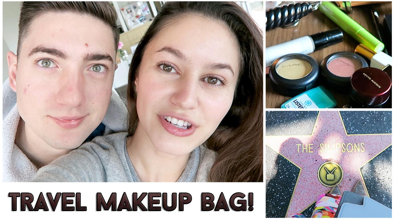 LA Vlog + What's in my travel makeup bag!